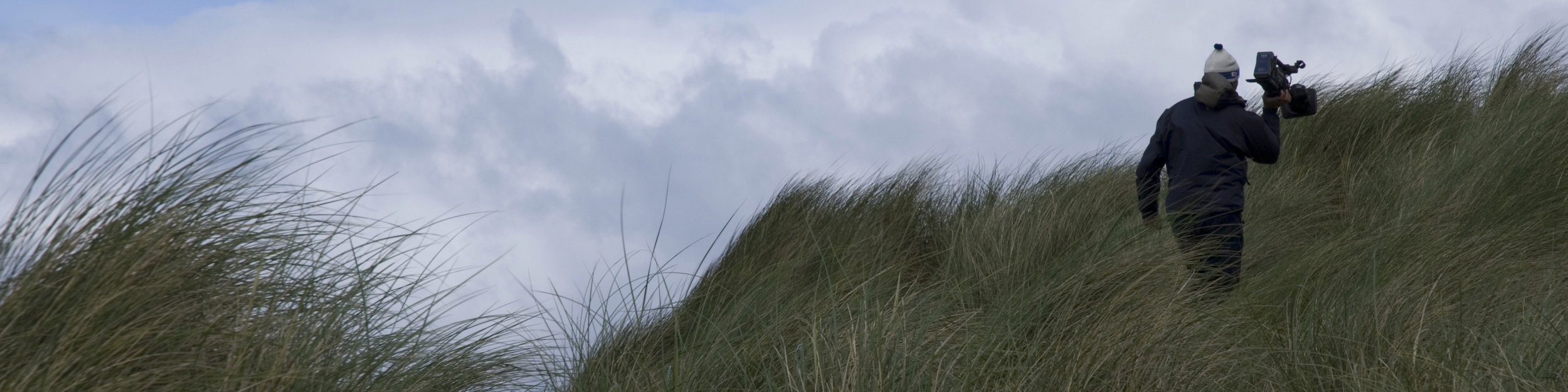 Filming amongst the dunes on Faraid Head for Balnakiel
