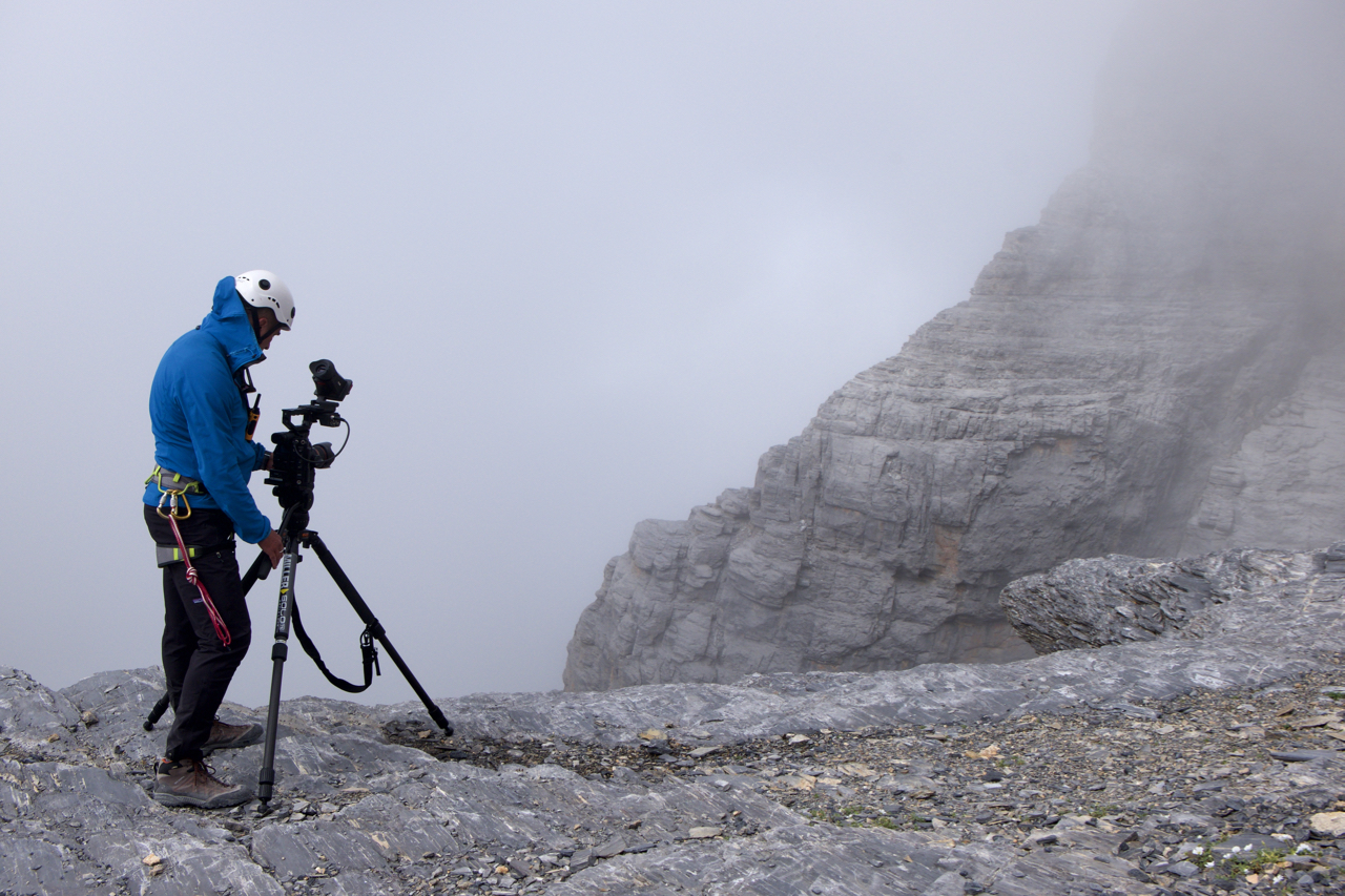 Filming on the Eiger for The Reckoning