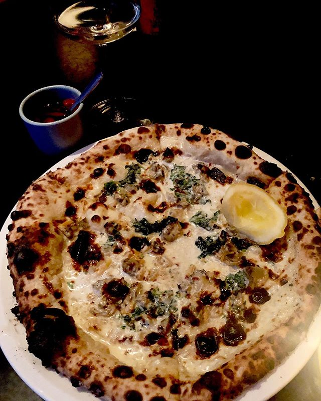 Omg amazing clam pie #littleitaly #deeelish #walkingandeating