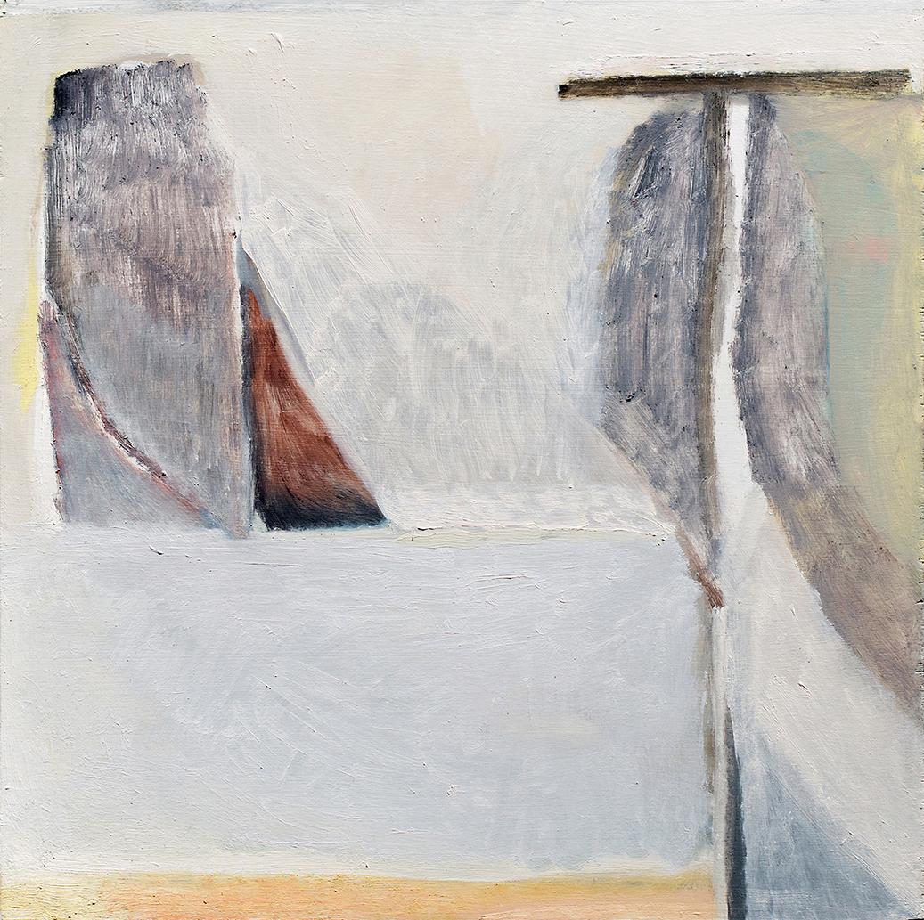 """Ellen Siebers, """"Untitled"""", 2017, Oil on shaped panel, 16 x 16 in"""