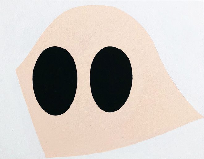 Karen Schifano,  Confederacy Dunce , 2018, Flashe on canvas, 18 x 22 inches