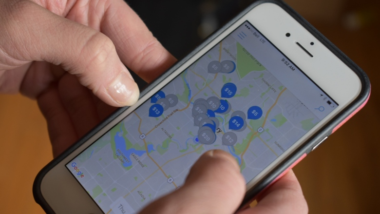 New businesses in Calgary are seeing success by using technology to make simple services easier to use, like finding a handyman, dog walker or a parking space downtown. (Park Champ)