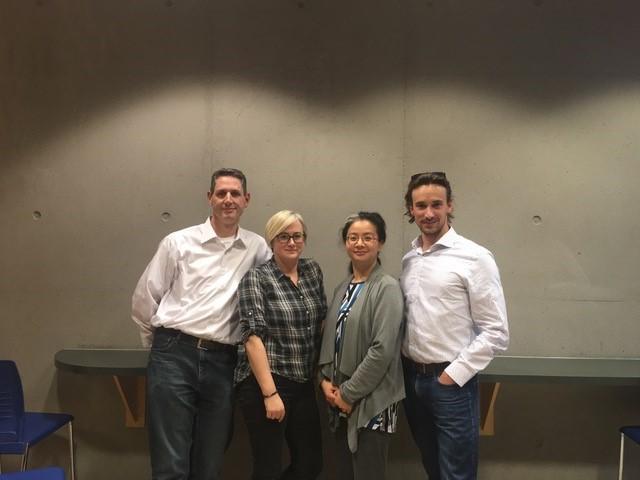 L to R: Dr. Colin Dalton, CTO; Claire Dixon, COO; Bonita Gunning, Quality Manager; Dr. Pierre Wijdenes, CEO