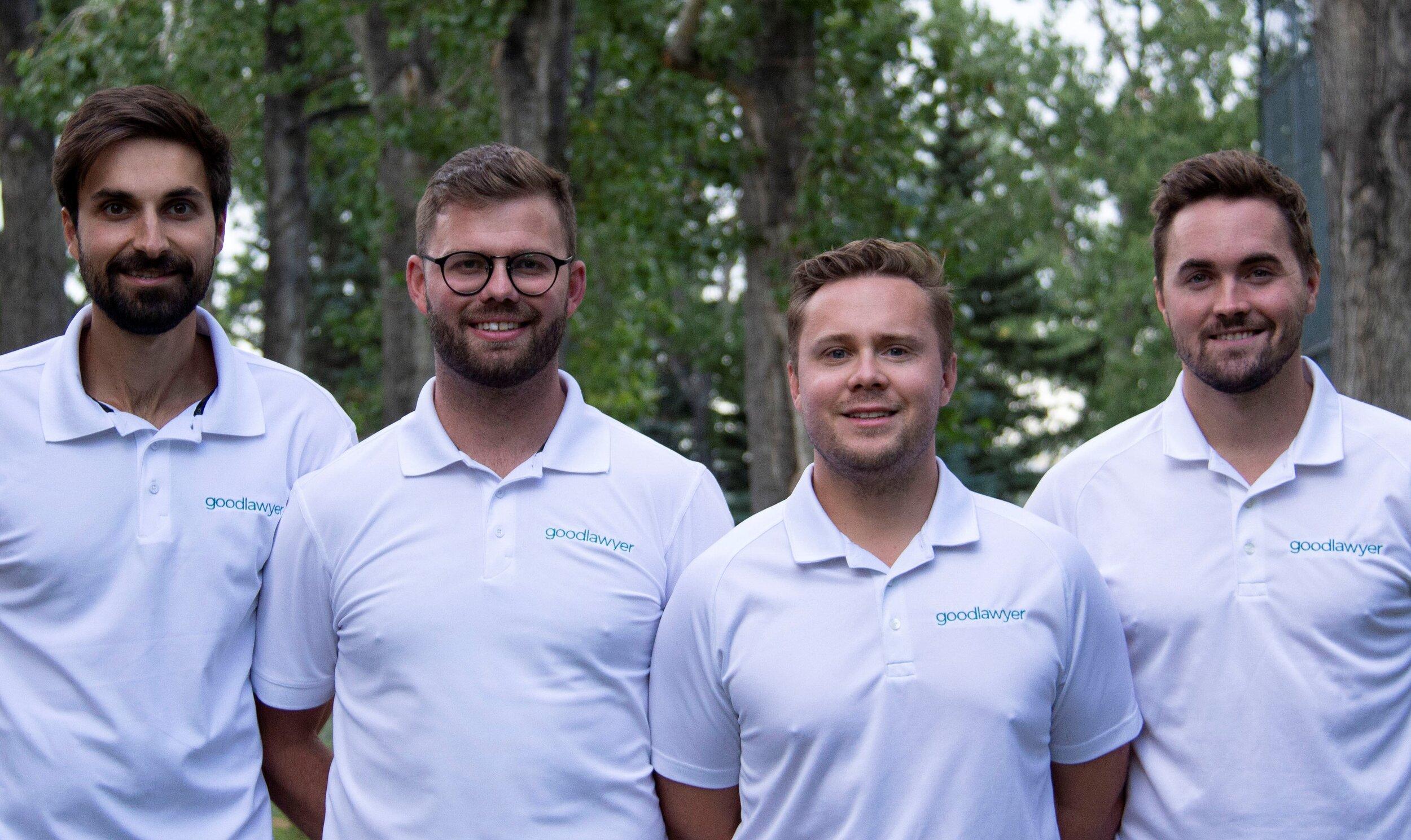L to R: Tom Alvarez, Co-founder & Lead Product Designer; Brett Colvin, Co-founder & CEO; Steven Bodi, Co-founder, President & COO; Parker Smith, Co-founder & Lead Software Developer