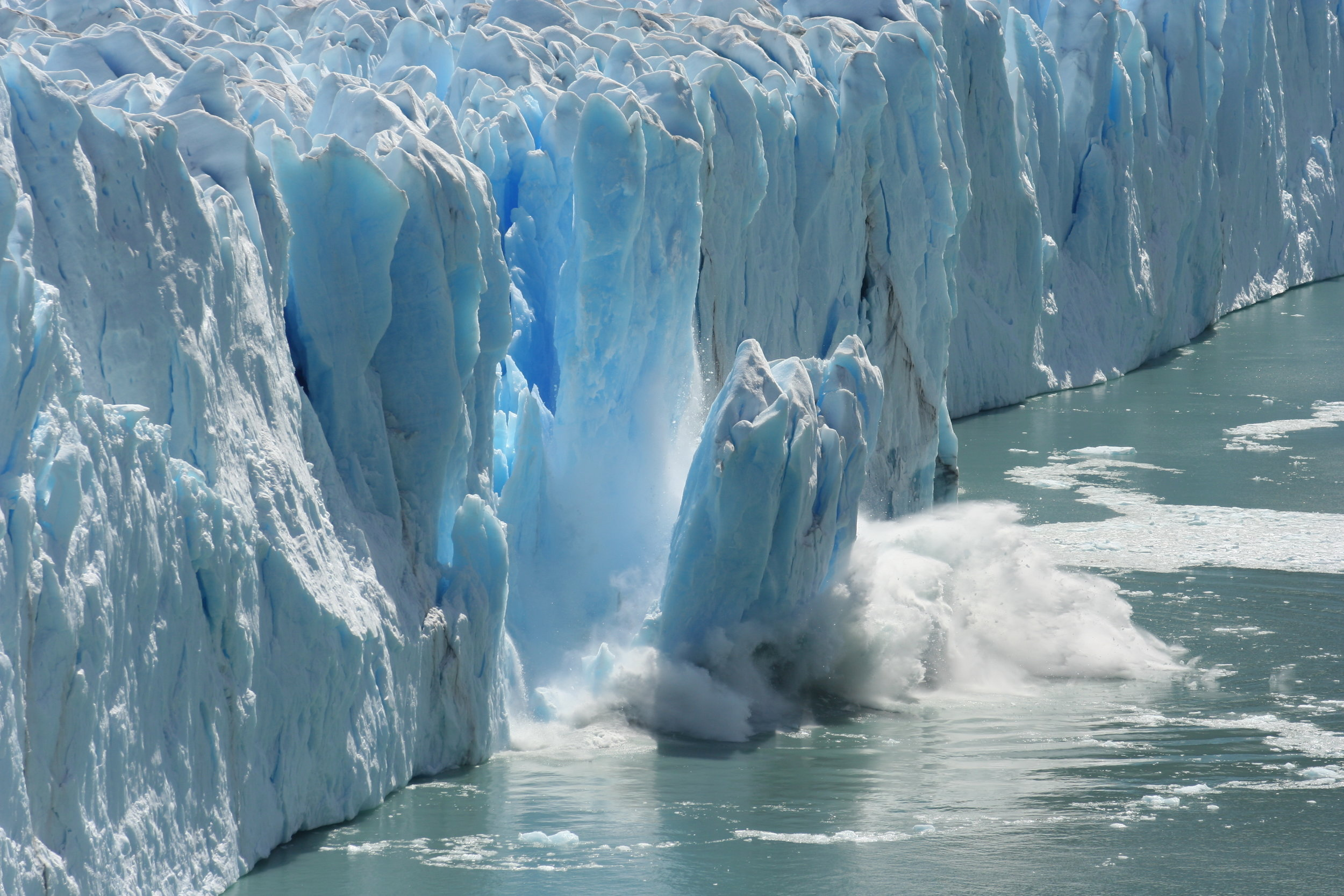 The Ice - There are 2 types of ice: sea ice (frozen ocean water) and land ice (glacial ice, including glaciers, as well as ice caps and the ice sheets). While sea ice loss does not affect global sea levels, it does affect global warming. As sea ice melts, there is less albedo, which is a measure of the amount of light that is reflected back into the atmosphere. With less white ice, more heat is absorbed by the oceans, thus contributing to temperature increase and the melting of more land ice. As land ice mass decreases, the melted water flows into the ocean, raising global sea levels.