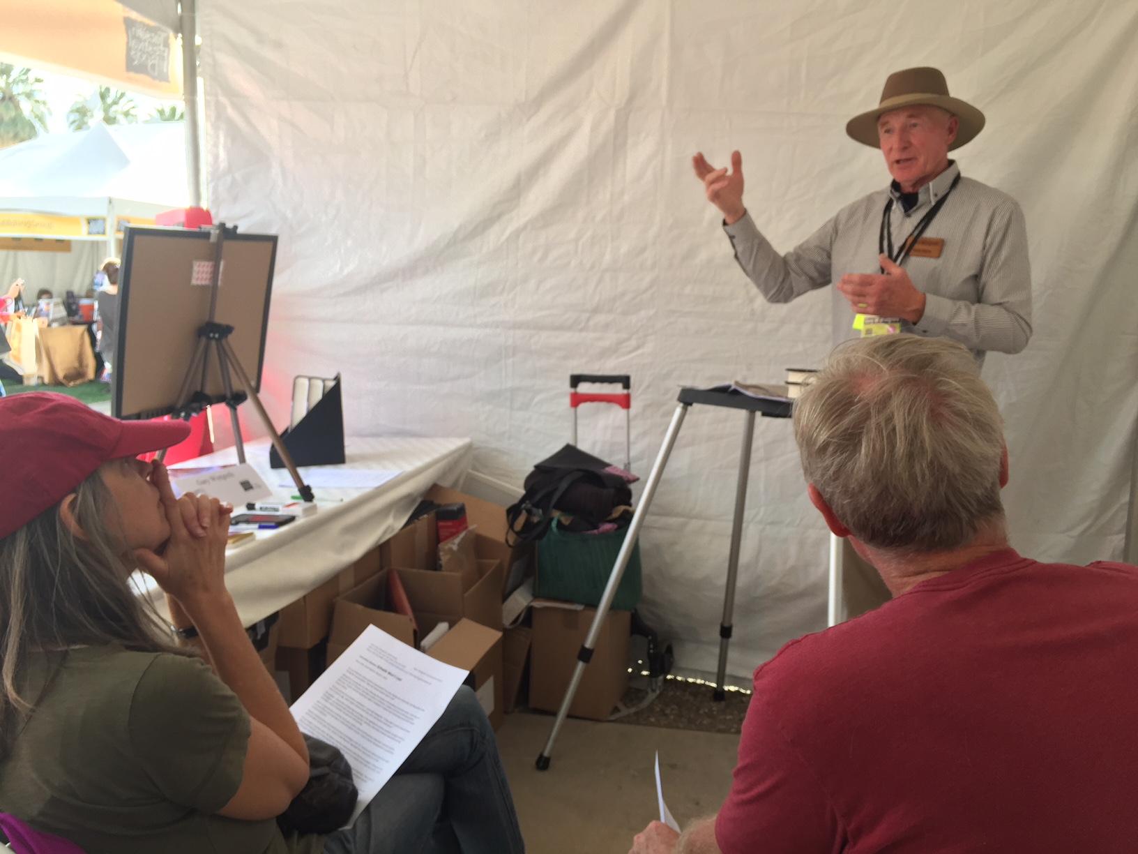 Tucson tent talk 1 031118.JPG