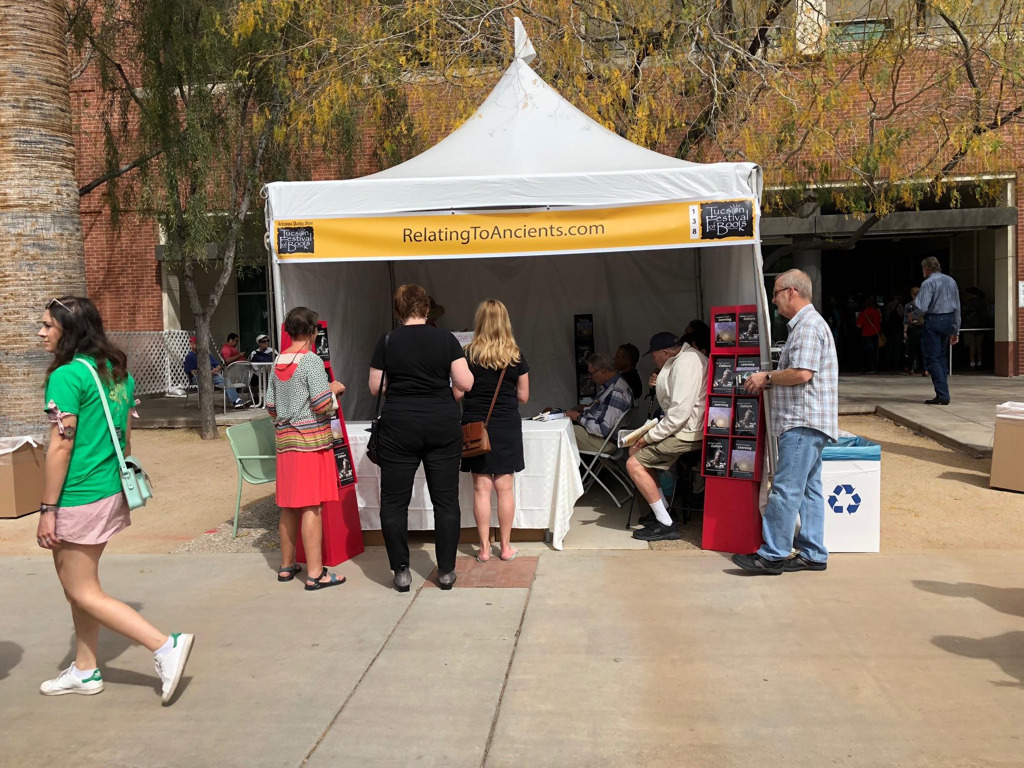 Tucson tent visitors 2 031118.JPG