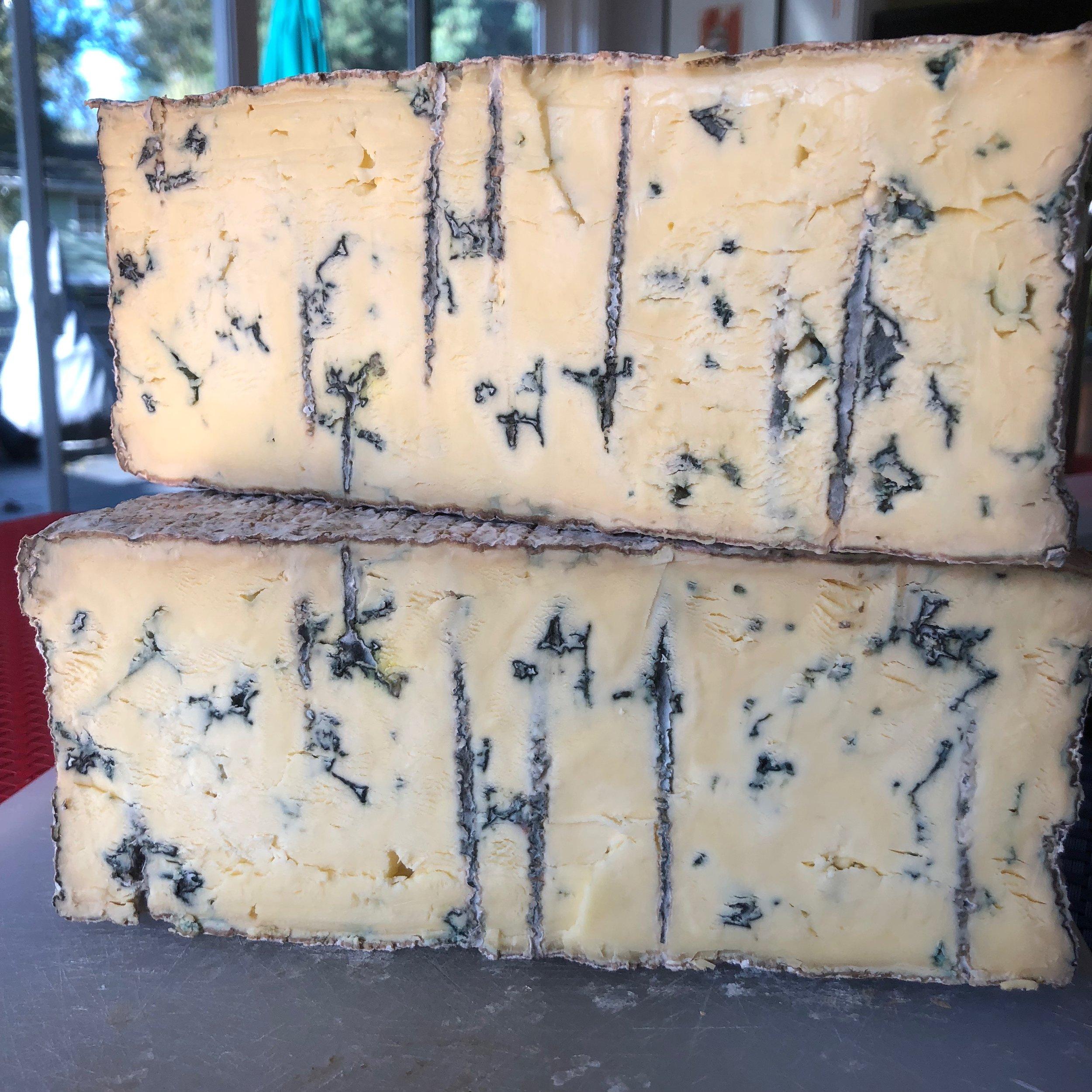 Bootleg Blue raw Jersey-milk cheese