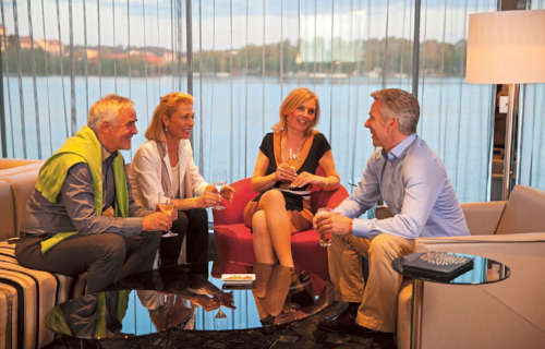 Panorama lounge and bar  The heart of the ship, Panorama lounge and bar is where guests can relax, catch up with new friends and enjoy the evening's entertainment. The bar's always open and there's tea and coffee making facilities.