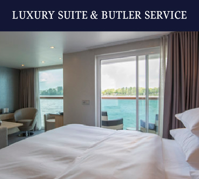 With thoughtfully appointed rooms and the attentive service of a butler for every guest, every detail has been considered on board.
