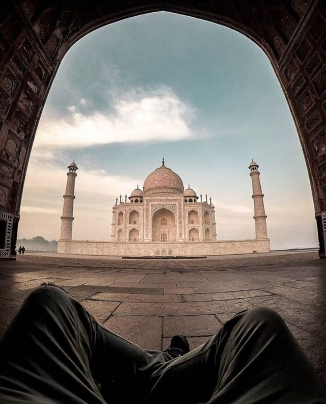 The changing moods of the Emperors wife are captured in the #TajMahal by the changing hues of the #Mausoleum at different times of the day. A pinkish hue in the morning 🌞, milky white in the evening 🌥️ and golden at night 🌛. . . We share in this majestic moment thanks to #travelphotographer @chumsontour 📸  #neverstopexploring #peoplescreative #stayandwonder #desiframes #travel #travelfilm #adventureseekers #awesomeearth #awesupply #beautifuldestinations #traveltagged #indiaphotography #travelstoke #artofvisuals #liveoutdoors #wildernessculture #exploretocreate #moodygrams #optoutsie #earthpix #postcardsfromtheworld #visitindia #mykilroymoment #passionpassport #kodakit #snapitkodakit #shootsmadesimple