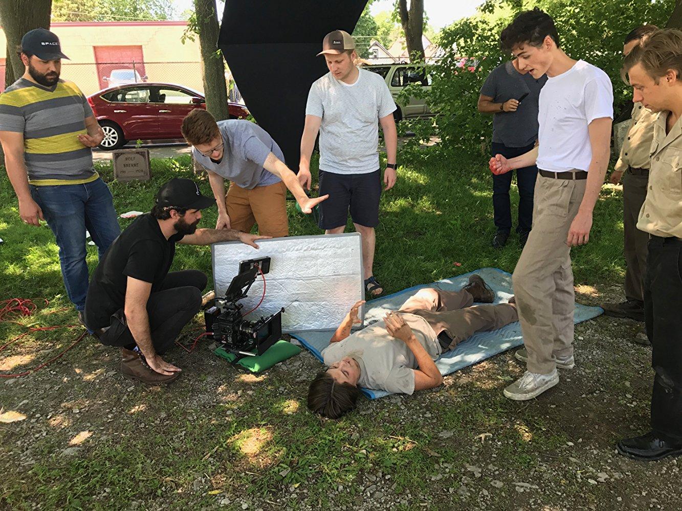 Filming the fight scene
