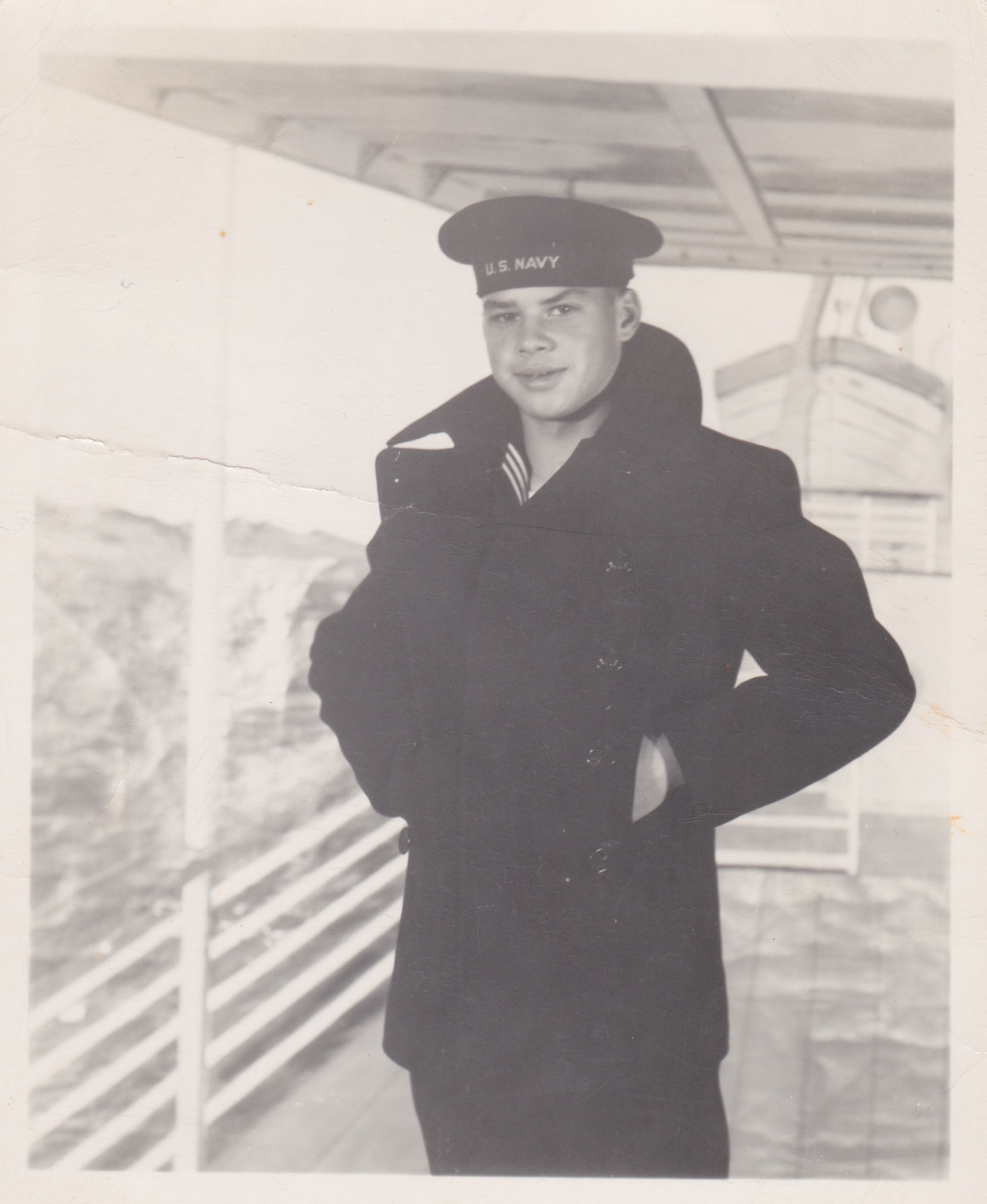 Lester Liptak in the Navy at the age of 15