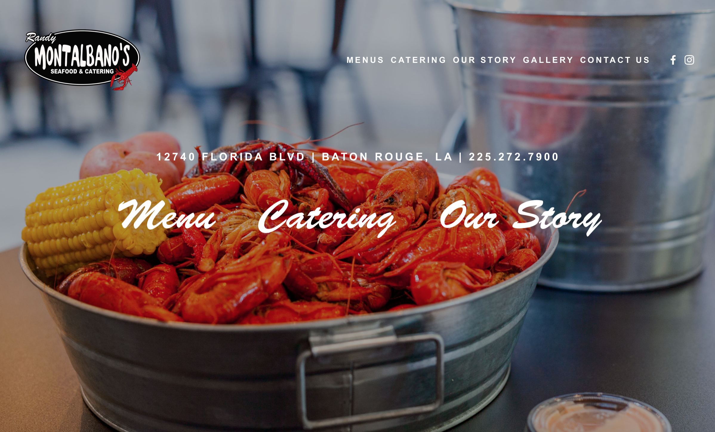 New Web Design for Montalbano's Seafood & Catering