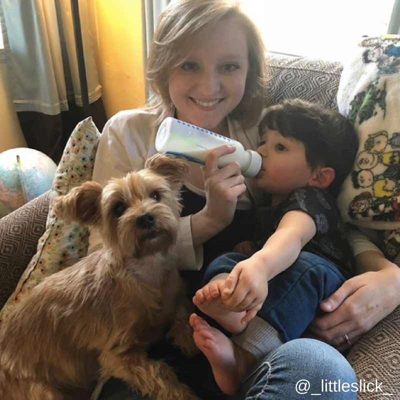 4. Cuando integras a tu perro a tu nueva vida de mamá de un bebé humano.