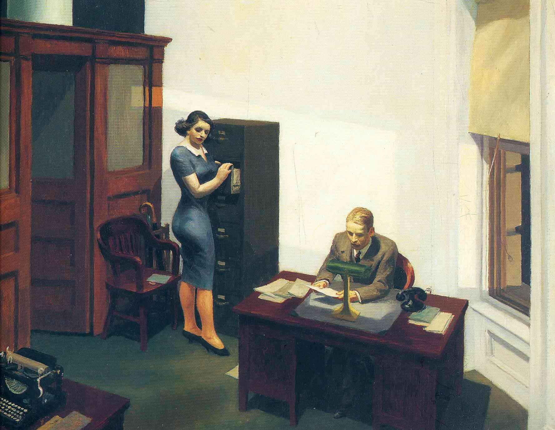 Edward Hopper, Office at Night , 1940
