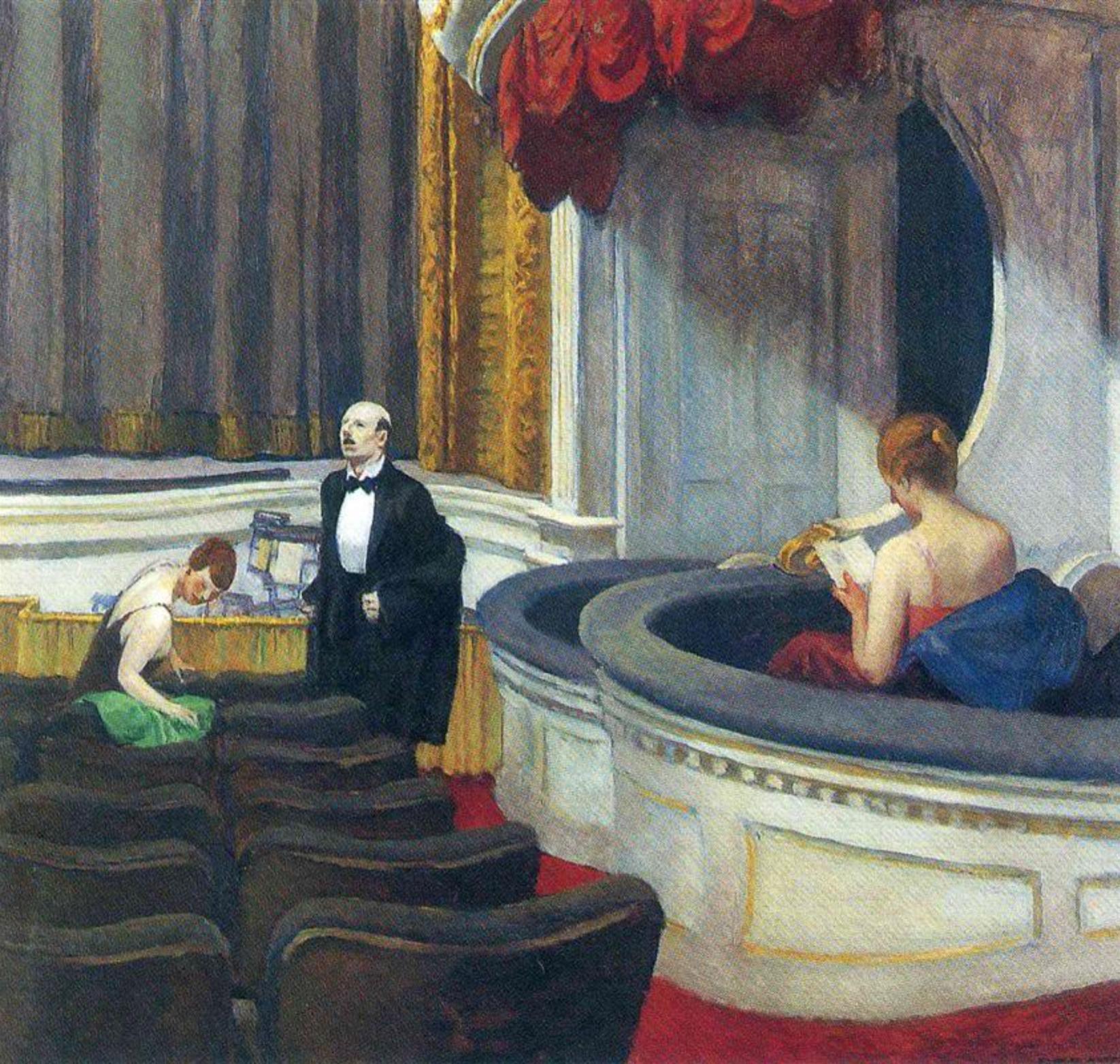 Edward Hopper,  Two on the Aisle , 1927
