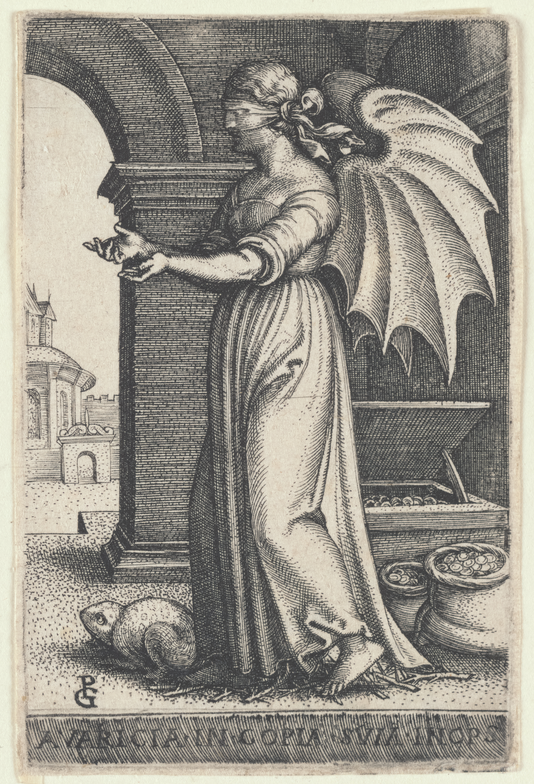The Miriam and Ira D. Wallach Division of Art, Prints and Photographs: Print Collection, The New York Public Library. (1500 - 1550).  Avaritia [Avarice]  Retrieved from http://digitalcollections.nypl.org/items/2b64b5b0-504e-0135-1f89-0718dba57193