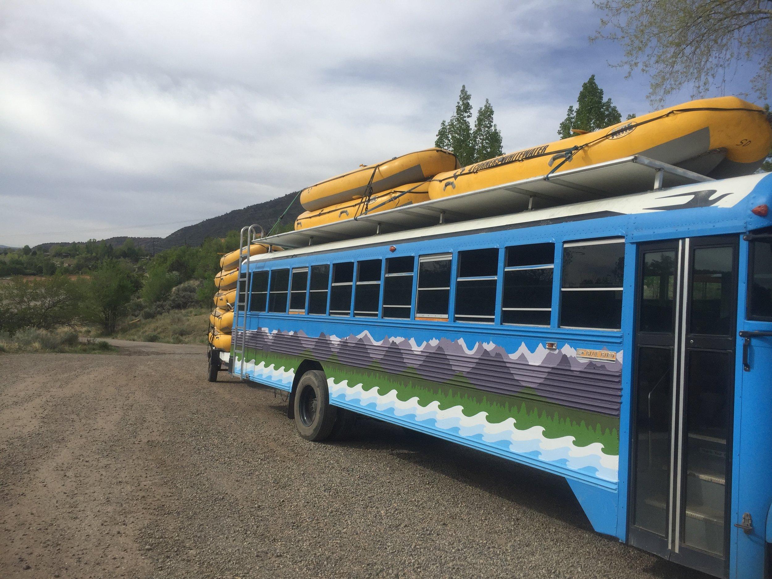 school bus roof rack