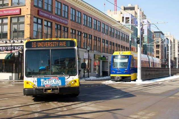 Approximately 1/3 of commuters, both overall (33.6%) and in the Corridor (36.1%), are using more than one mode to get from home to work or school. - Image courtesy of Streets.MN