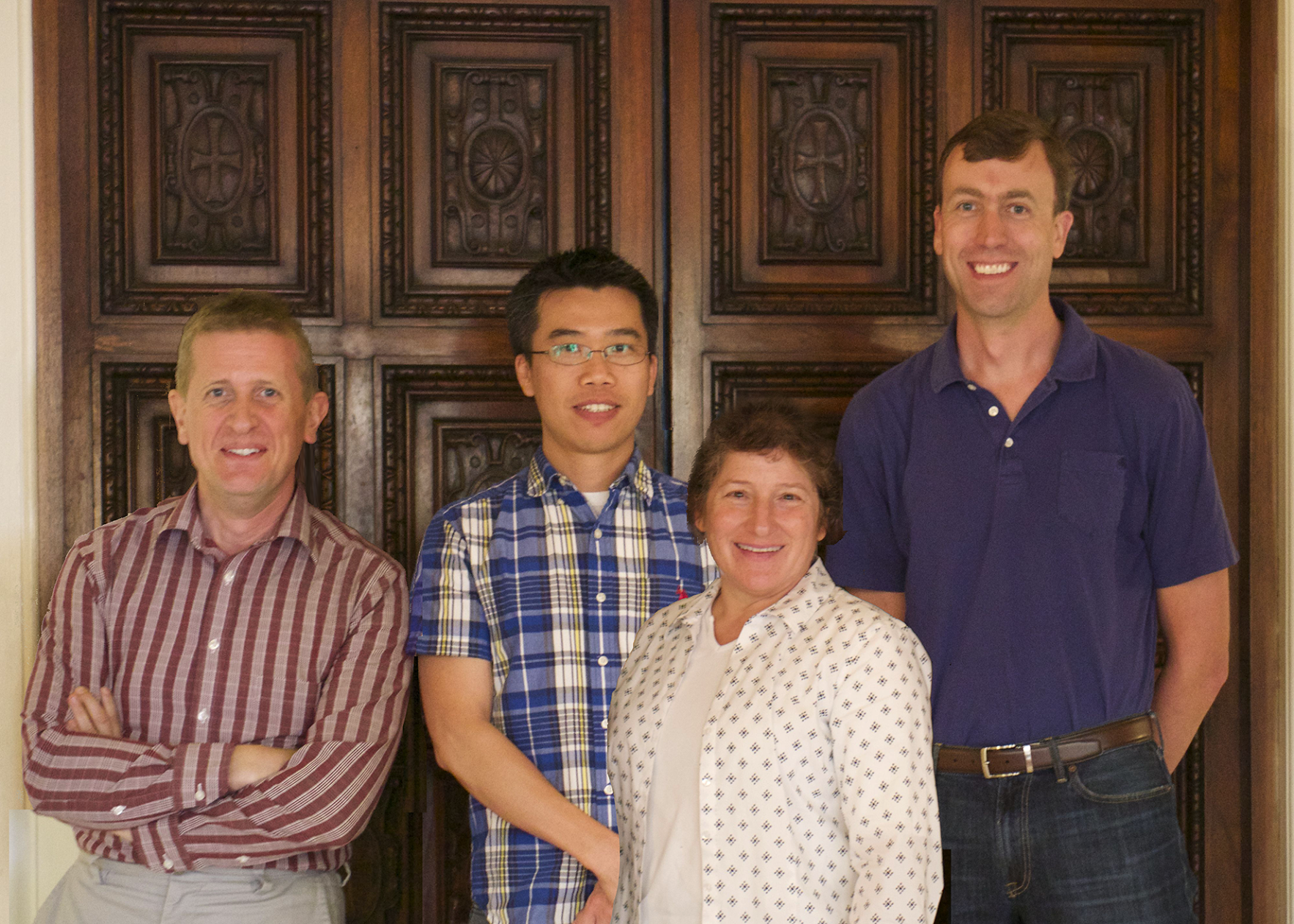From left to right: Simon Jones, Jeremy Wei, Julie Kornfield, and Jason Whaley