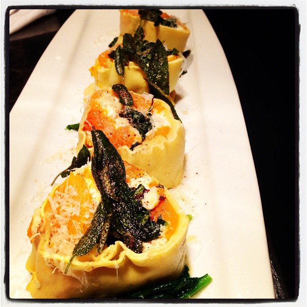 Butternut Squash Rotolo with Fresh Ricotta & Sage Brown Butter