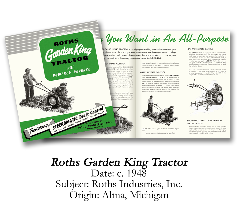 1948 Roths Garden King Tractor Brochure