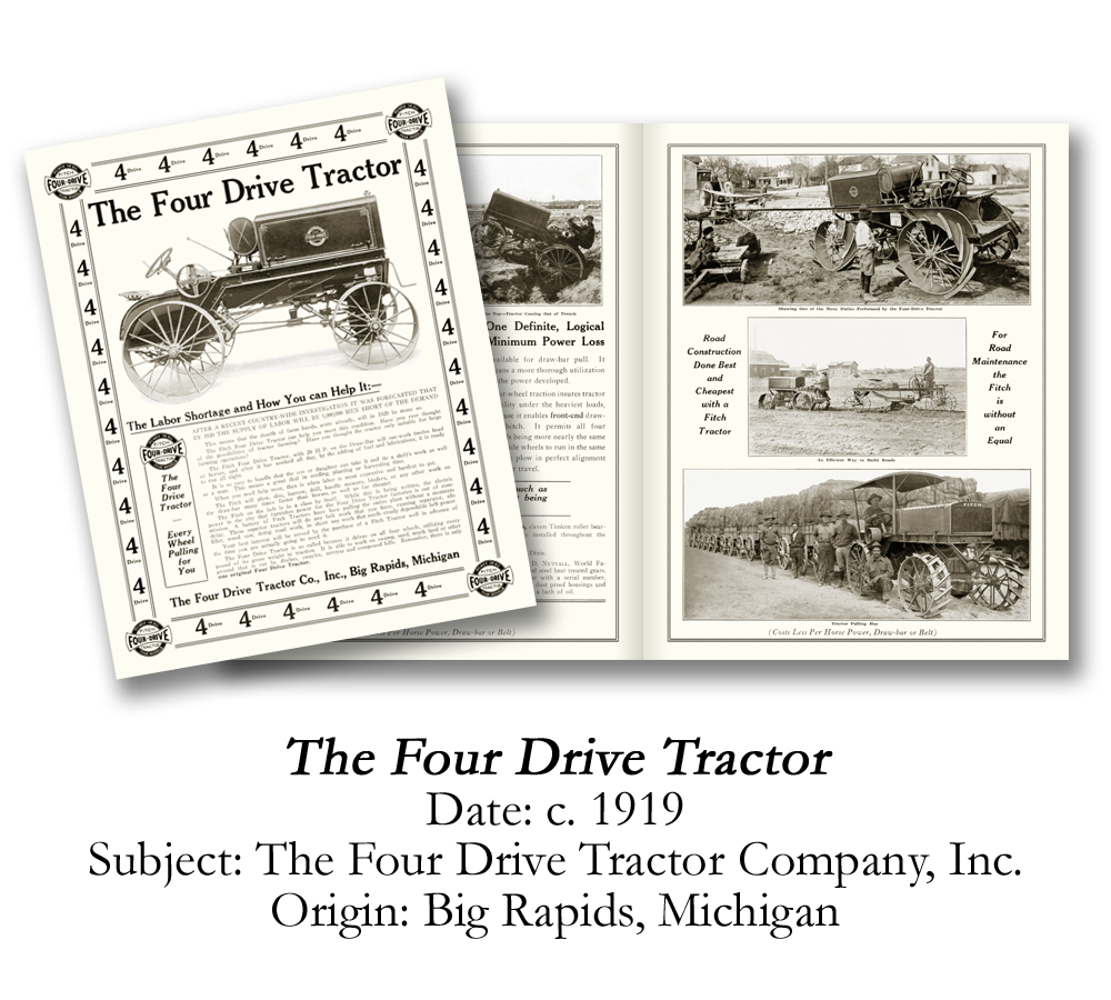 1919 Fitch Four Drive Tractor Brochure