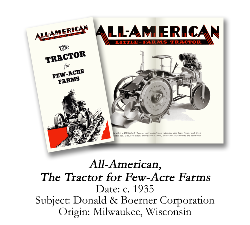 1935 All-American Garden Tractor Brochure