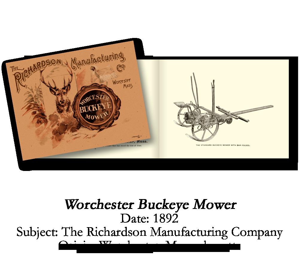 1892 Worchester Buckeye Mower Catalog