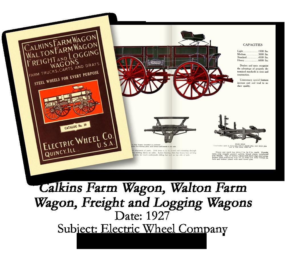 1927 Calkins Farm Wagon Catalog