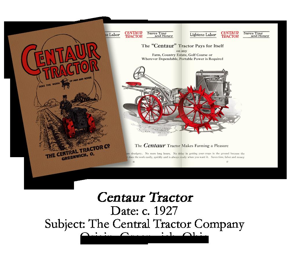 1927 Centaur Garden Tractor Catalog