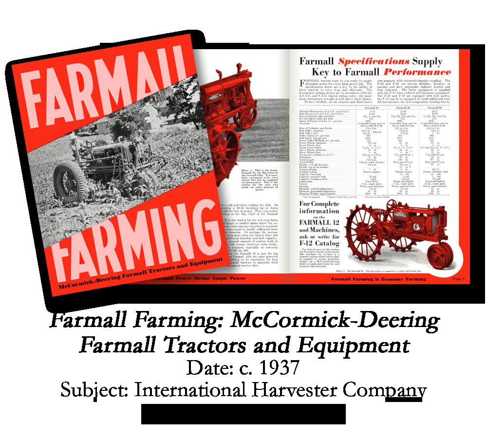 1937 Farmall Tractor Catalog