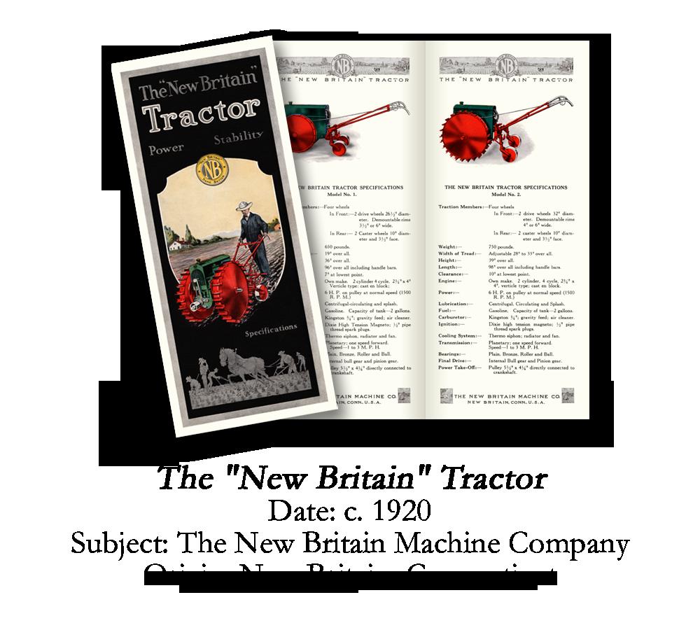 1920 New Britain Garden Tractor Brochure