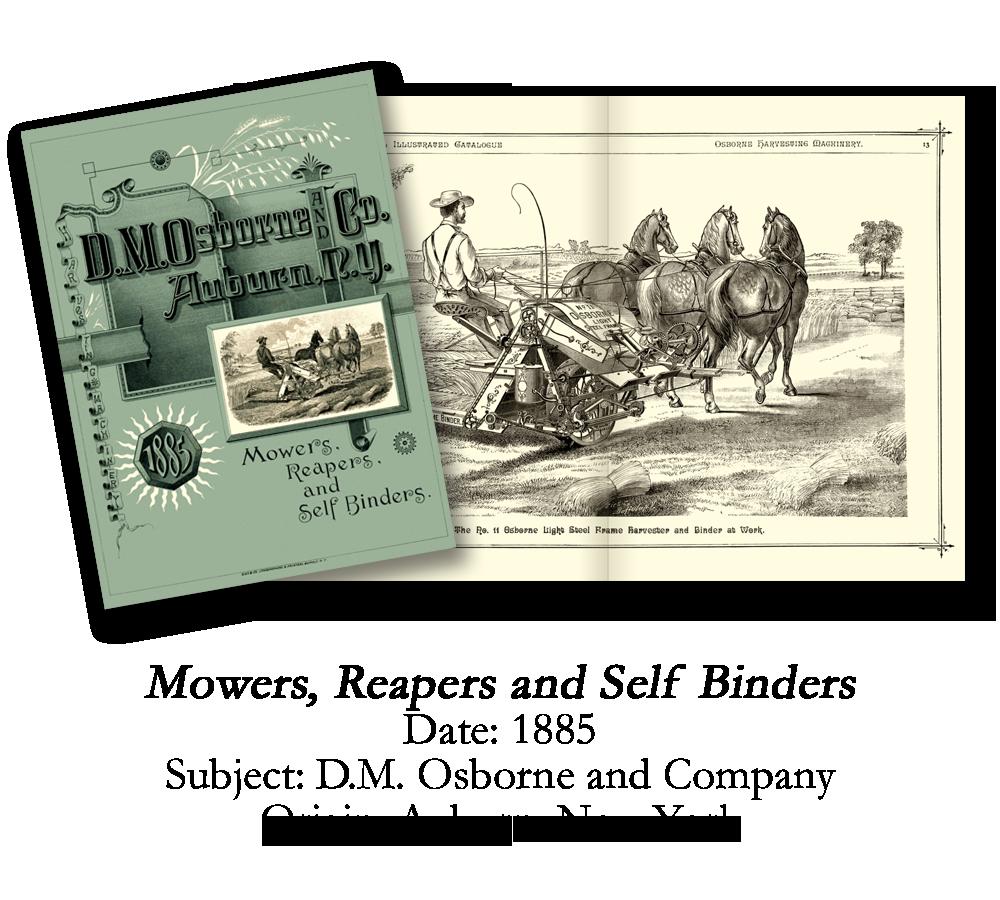 1885 D.M. Osborne Farm Equipment Catalog