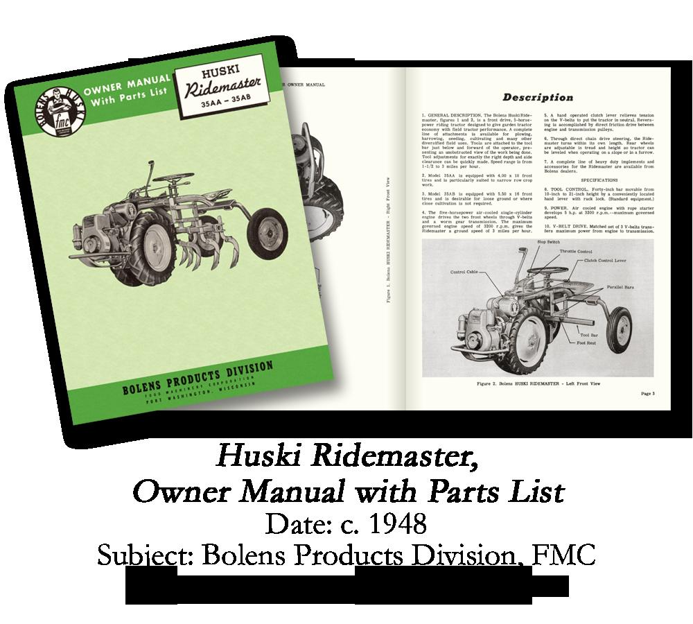 1948 Bolens Ridemaster Manual