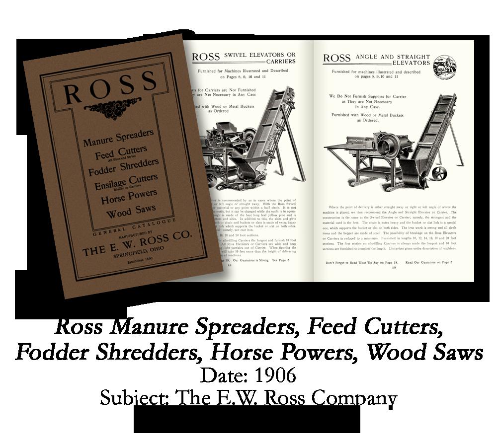 1906 Ross Farm Equipment Catalog