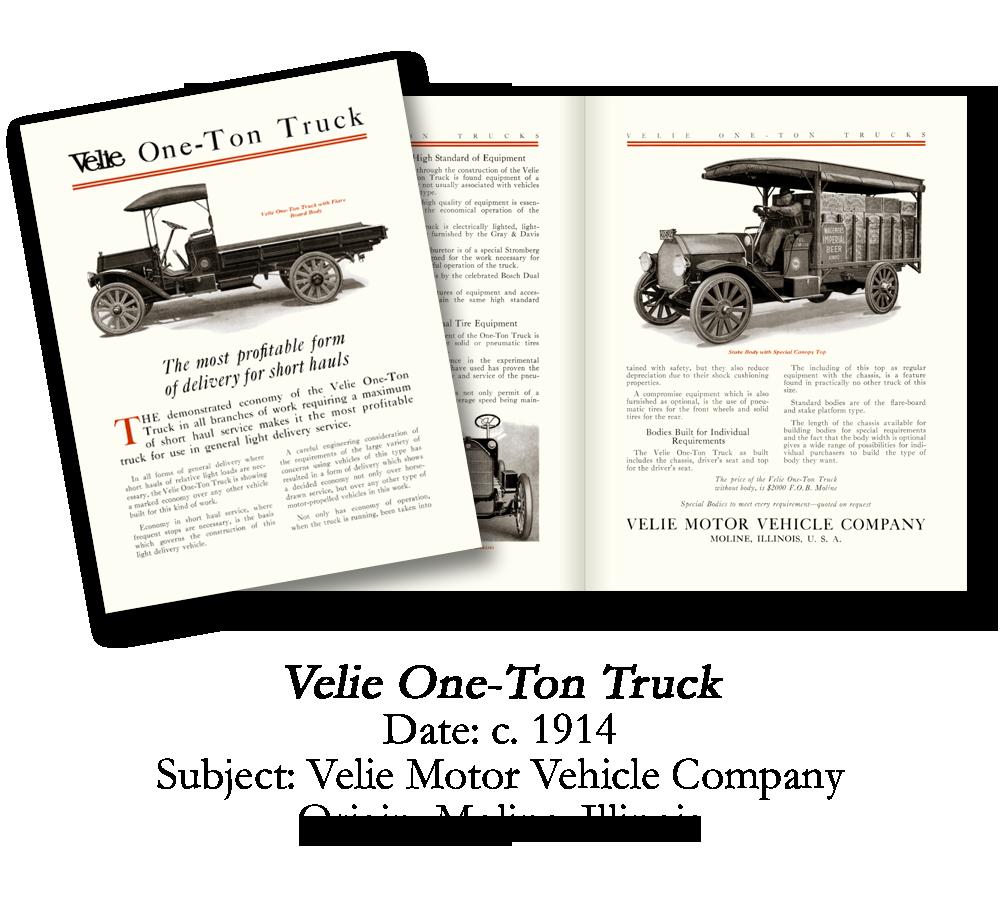 1914 Velie One-Ton Truck Brochure