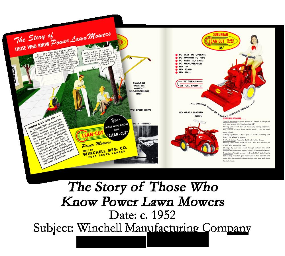 1952 Winchell Lawn Mower Brochure