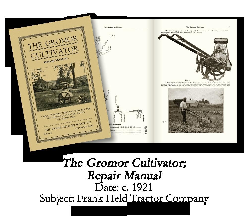 1921 Gromor Cultivator Repair Manual