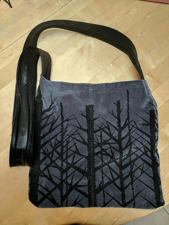 Leather & Velvet Bag
