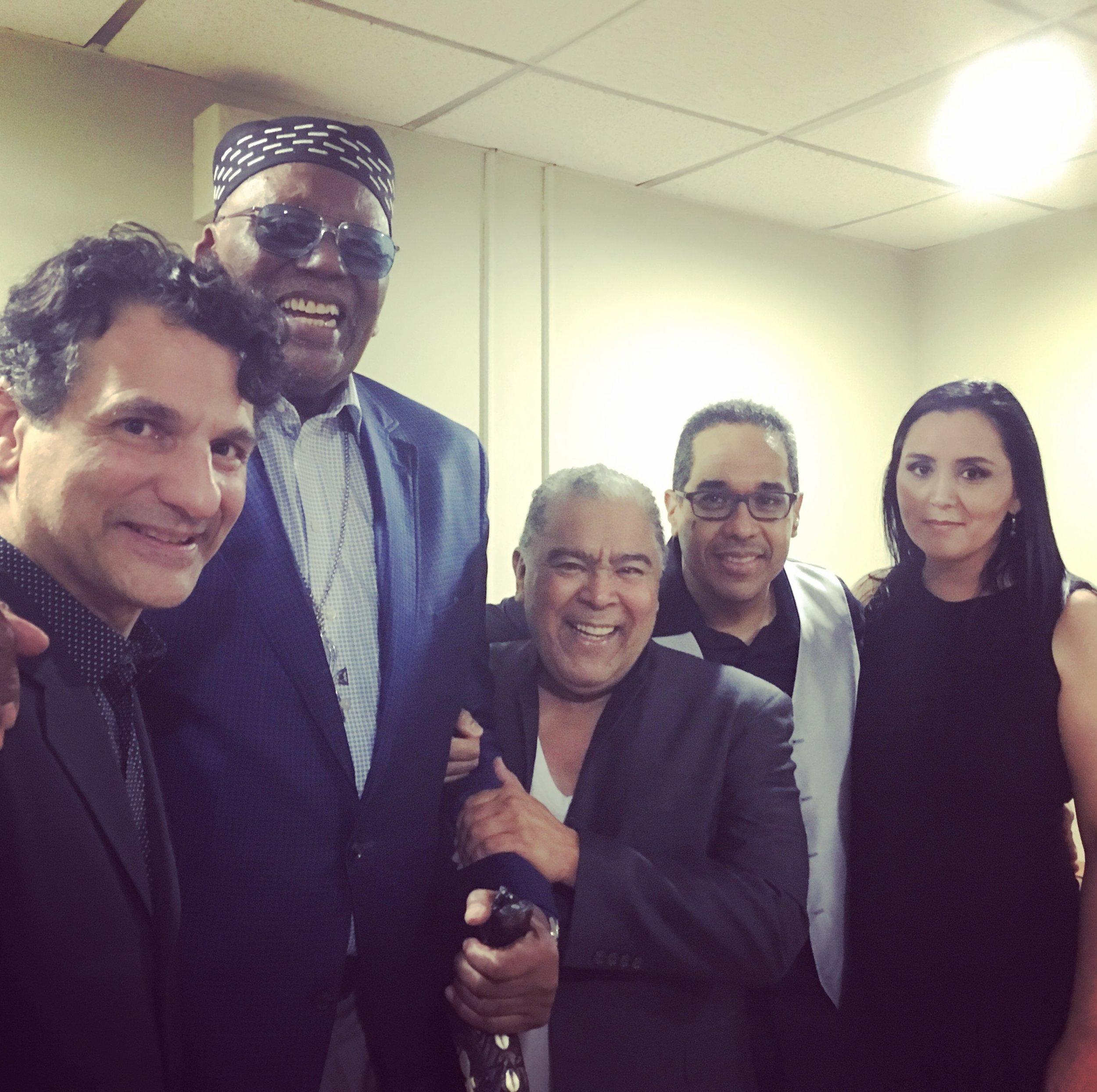 (After the gala show - John Patitucci, Randy Weston, Danny Rivera, Danilo Pérez, Patricia Zárate - January 2016)
