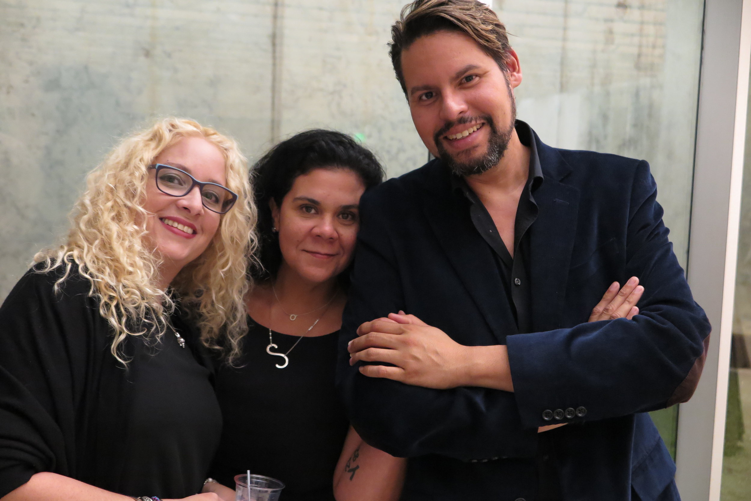 Beatríz, Sabina, Fernando. Fundación Luis Muñoz Marín. 30 de enero 2019.