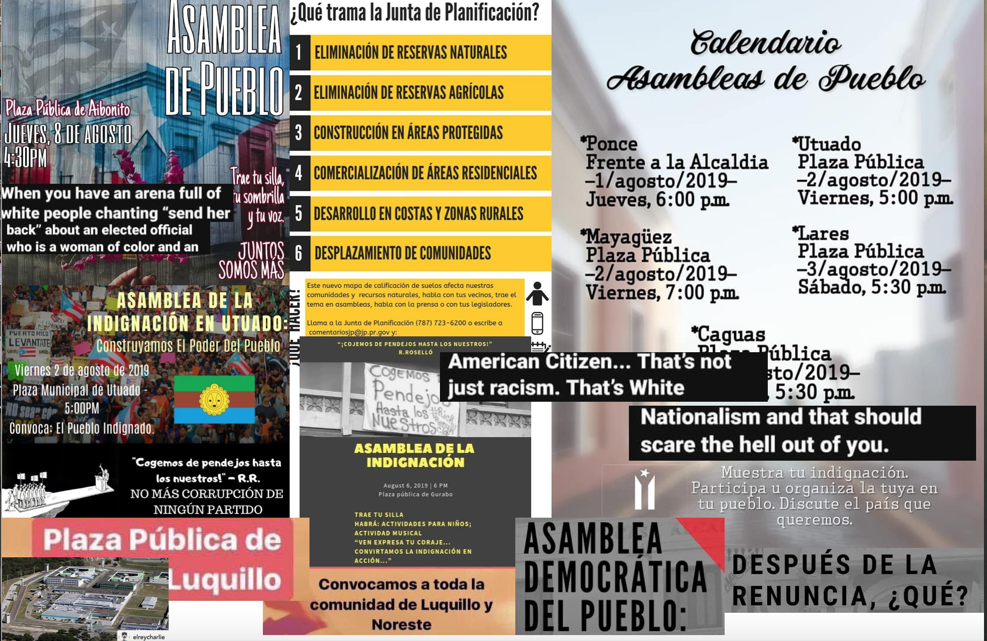 From around the web and  asambleas de pueblo.