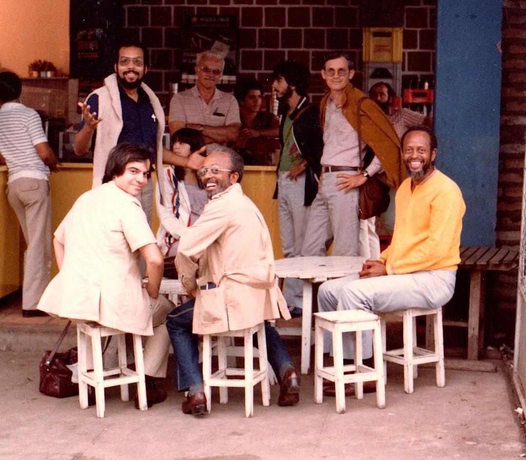 L to R; (rear) Stanley Cowell, (front) Tony Purrone, Jimmy Heath, Percy Heath