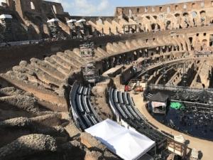 Colosseum stage set for Bocelli concert