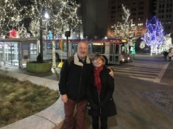Downtown Cleveland holiday lights
