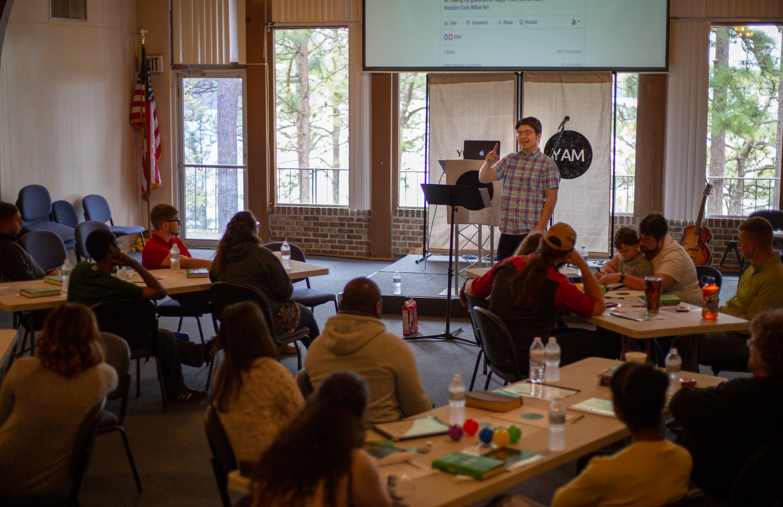 "By Chris Feldmann ""Justin Yang, pastor of the Atlanta Korean church, presents on making the church a warm place to be."""