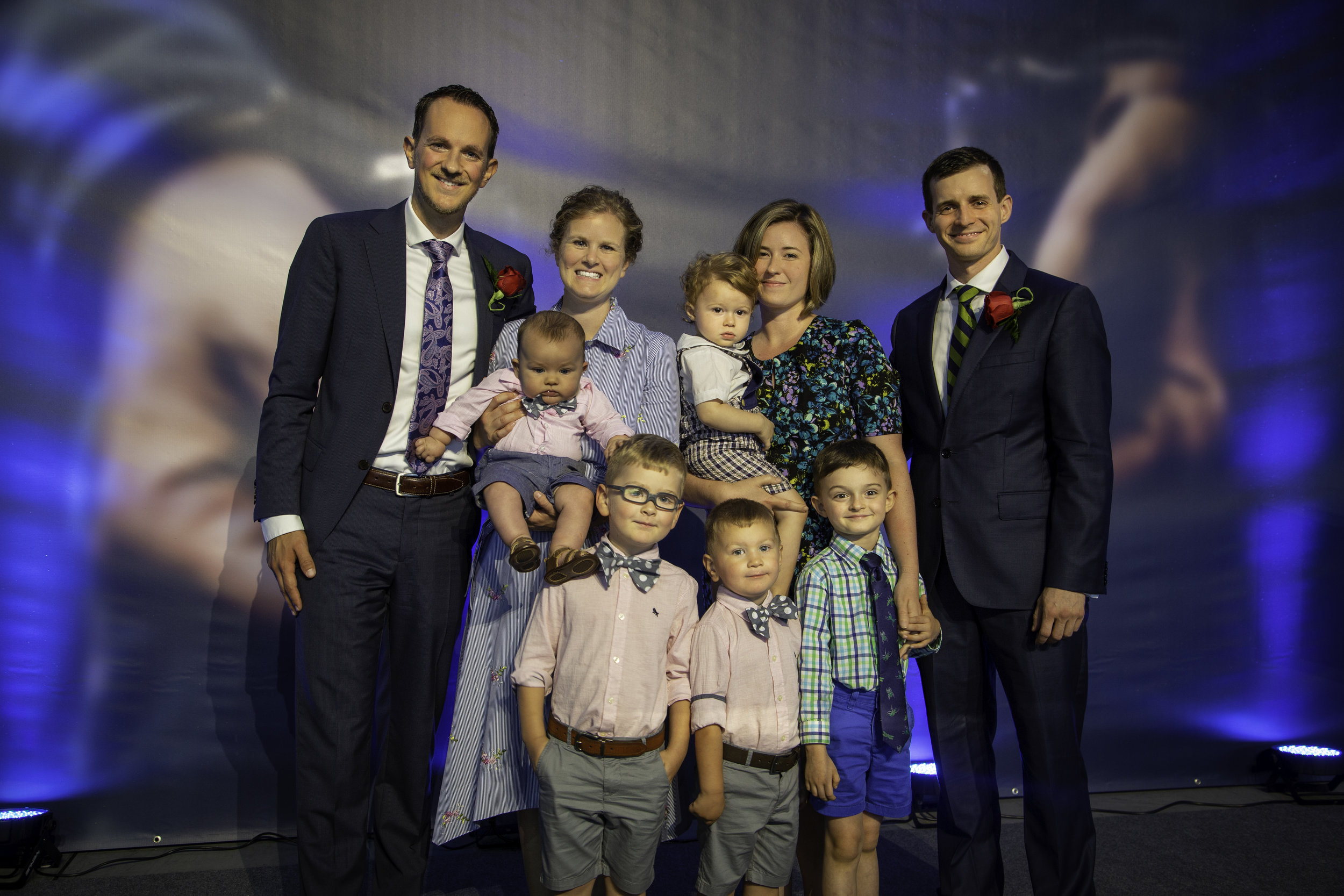 By Stan Hobbs  Samuel Riemersma (left), is accompanied by his wife Amber, and sons, Isaac, Noah, and Elijah. Shane Hochstetler (right) is accompanied by his wife Amy, and sons Jack, and Henry