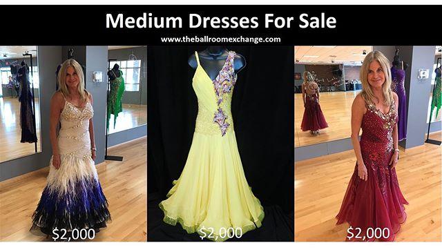 Medium Dresses for Sale #ballroomdance #americansmooth #ballroomdressforsale #dance #passion #atlanta #vinings #marietta